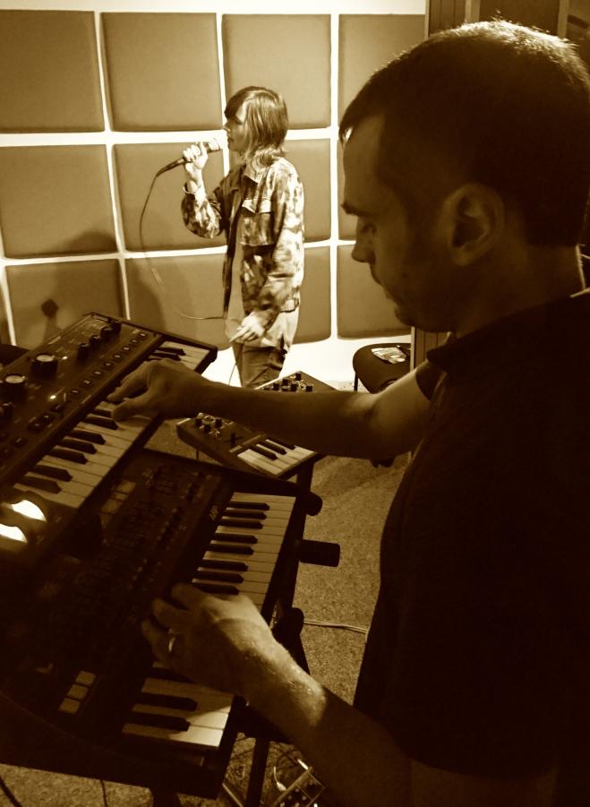 Rehearsing last week!